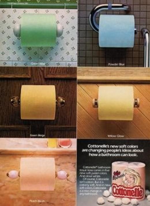 colored Cottonelle toilet paper