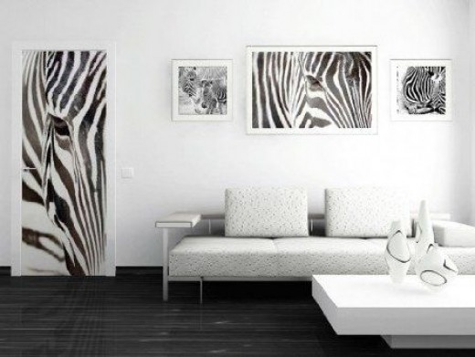 office space with zebra prints