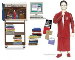 Deluxe librarian action figure with shushing action! (image source: www.mcphee.com)