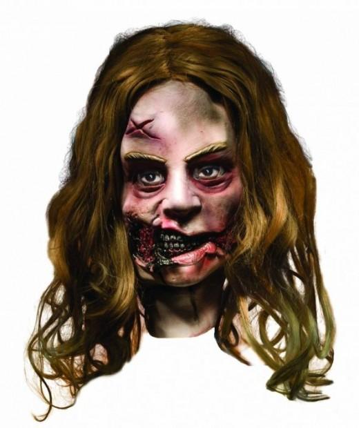 Halloween Mask - Zombie Little Girl Mask