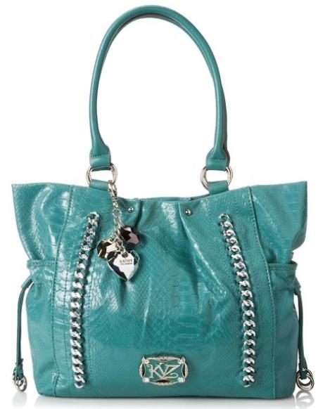 Kathy Van Zeeland Turquoise Blue Bag