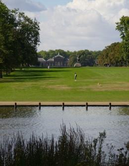 Kensington Palace, seen from Long Water in Kensington Gardens