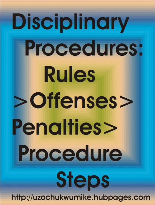 The disciplinary procedures in management: rules, offenses, penalties and procedure steps