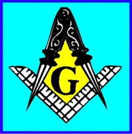The mason compas, square and the big G.