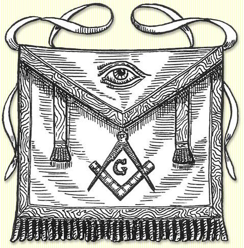 Free Mason lamb skin apron