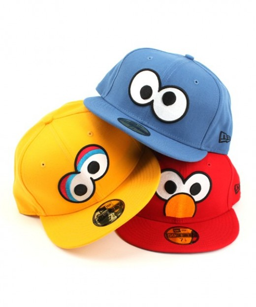 Sesame Street Hats Including Cookie Monster,Elmo and Big Bird