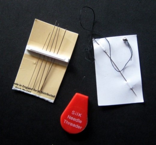 My Beading Needles (getting horribly bent, some of them - seen the inside of just a few beads in their life so far!).