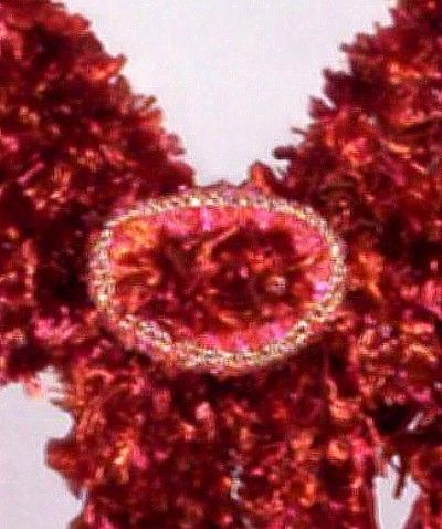 ...the sparkly gold yarn crochet covered 'catch' - close up and personal