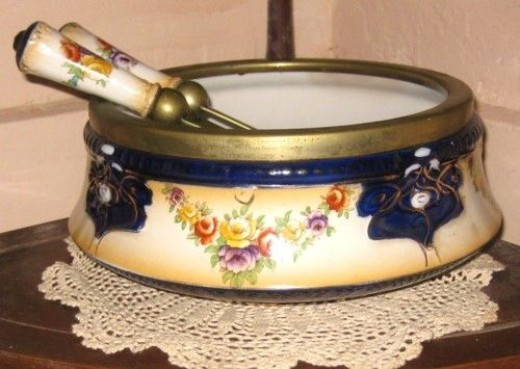 My Grandfather's trophy salad bowl and servers