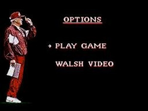 Bill Walsh College Football was a popular video game when it was first released.