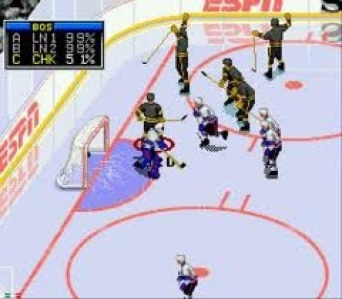 ESPN National Hockey Night used digitized graphics along with easy use of controls to become a top hockey game for Sega.