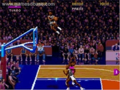 NBA Jam features high flying slams and some of the best commentary in basketball video game history.