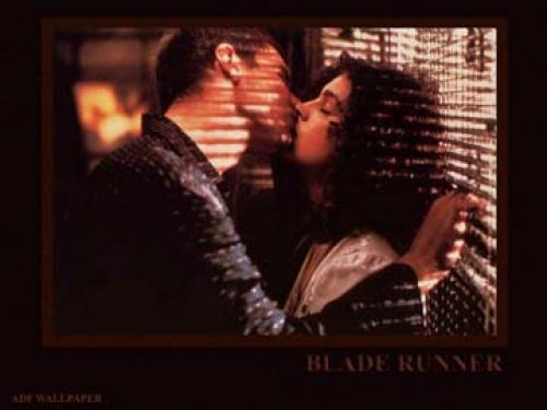 Deckard (Harrison Ford) with Rachael (Sean Young).