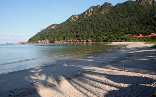 Tropical beach at Langkawi Island