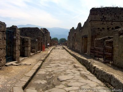 Wander down a street in ancient Pompeii