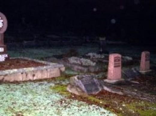 Spirit Orbs at graveyard