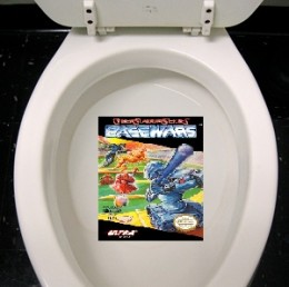At the mental institution where they made Base Wars for the NES, they repeatedly took a crap on it during the testing phase. Part 2 of the test phase involved feeding the game to a gorilla and watching for what color it crapped out.
