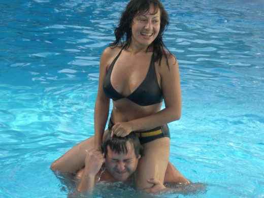 Me having fun at the pool