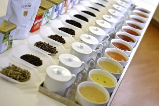 Tea tasting buffet