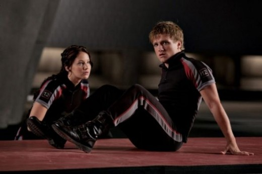Still of Katniss and Peeta