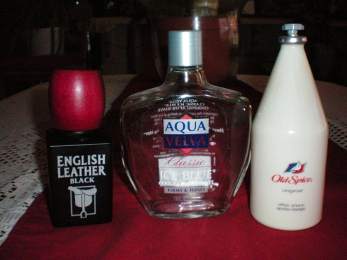 Reliable favorites of my significant other. Oops,time for more Aqua Velva