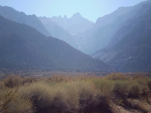 Mount Whitney from the Alabama Hills.