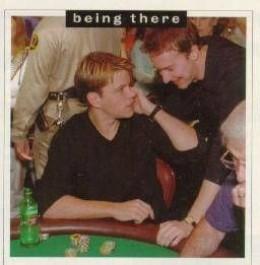 Matt Damon and Ed Norton having fun at the 1998 World Series of Poker.