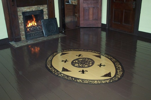 Hard Wood Mahogany Floor - Circa 1852