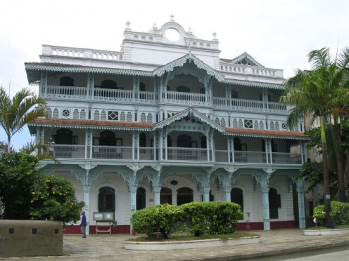 Old Dispensary Building envisioned and funded by Sir Tharia Topan.  Completed in 1887 shortly after his death.