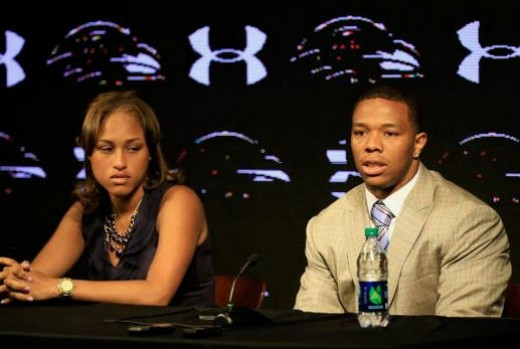 Ray Rice and his victim wife