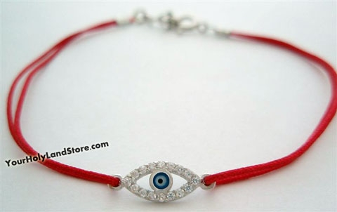 Red String KABBALAH BRACELET with Zircon Evil Eye Charm