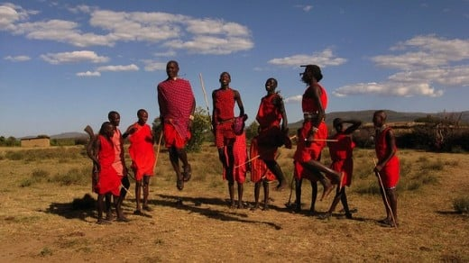 The Maasai are known for among other things, their dancing and jumping.