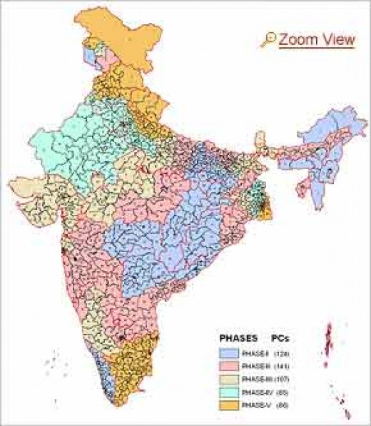 India: 28 states, 7 Union Territories
