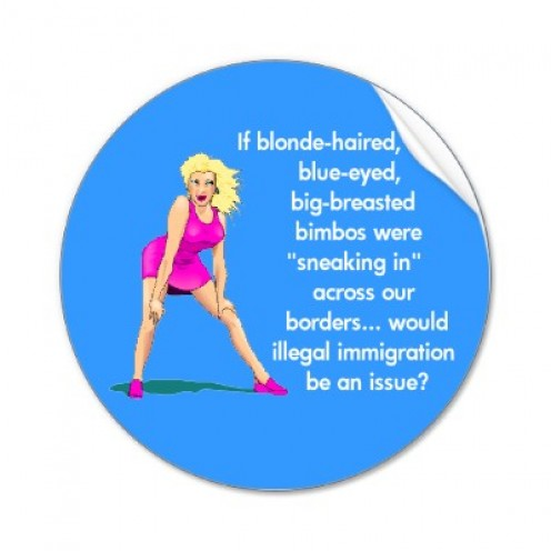 Our Blondepoet is no bimbo.