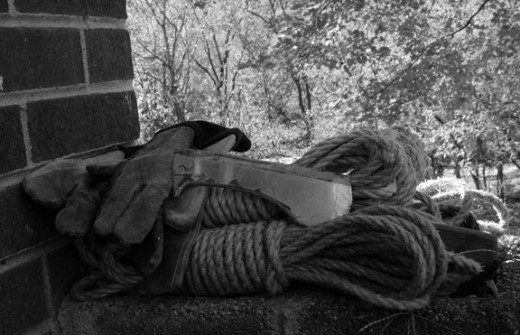 Rope, Gloves and A Knife