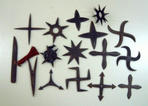 Different types shuriken stars