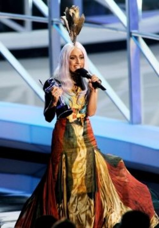 lady gaga vma dress