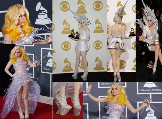Lady gaga grammys dress - lady gaga armani grammys outfits