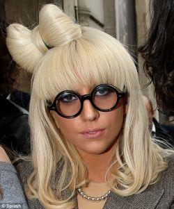 lady gaga round glasses - lady gaga wing and bow