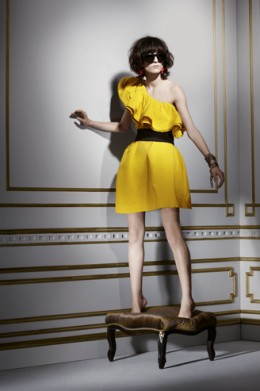 lanvin for h&m yellow dress