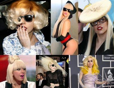 Lady Gaga Hair Looks: wigs wigs wigs!