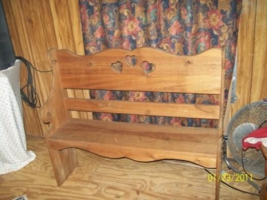 Wooden Heart Bench