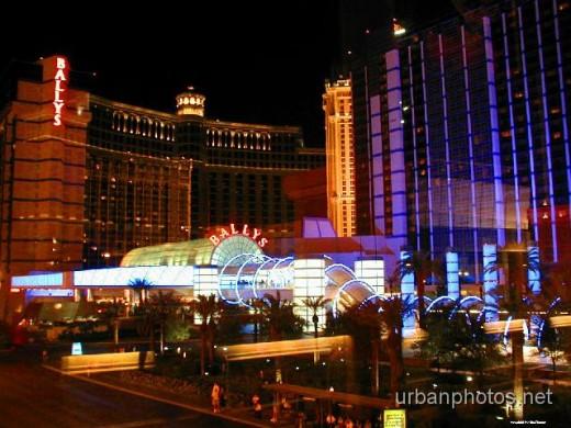 Bally's Las Vegas & a reflection of Bellagio