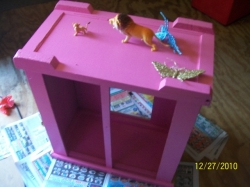 The girls really enjoy painting wood furniture in girly girl colors. It brightened up their room. It makes them smile.