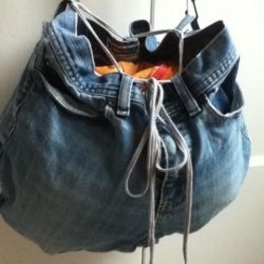Denim jean bag 2