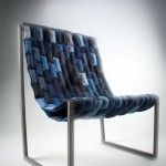 Recycled denim jean chair