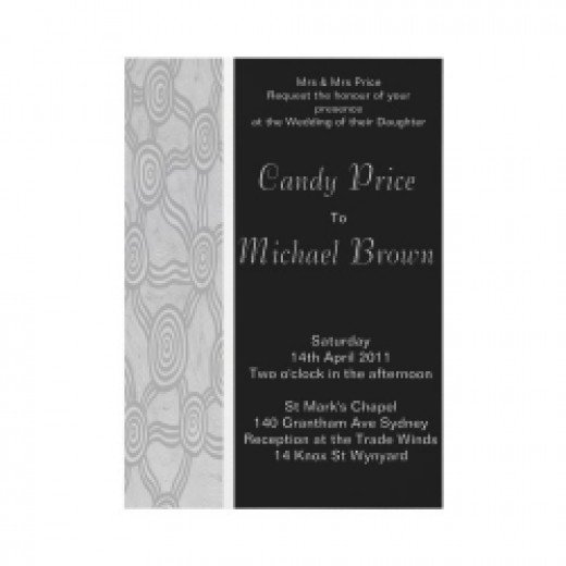 Winter Dreaming Wedding Invitation