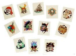 Pirate Temporary Tattoos For Kids