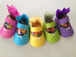 Baby shower favor ideas - How to craft a baby shoe