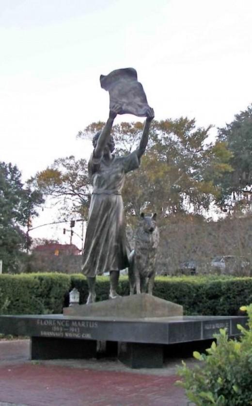 The Waving Girl Statue